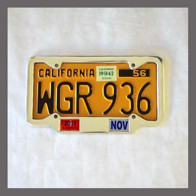 California YOM License Plate Frame 1956 - Current DMV Month Year Stickers