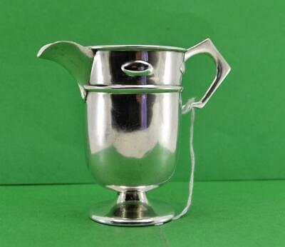W Hutton & Son Sterling Silver Arts & Craft Mission style Cream Jug Chester 1914