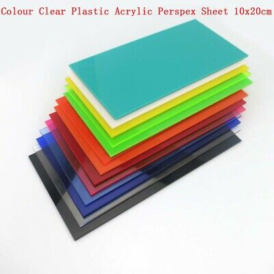 NEW COLOUR PERSPEX Acrylic Sheet Plastic Material Panel Size