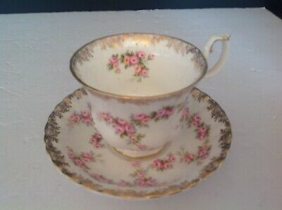 Bone China Cup & Saucer By Royal Albert Dimity Rose