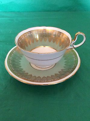 Aynsley Bone China Cup & Saucer Heavy Gold Lace Trim #1721