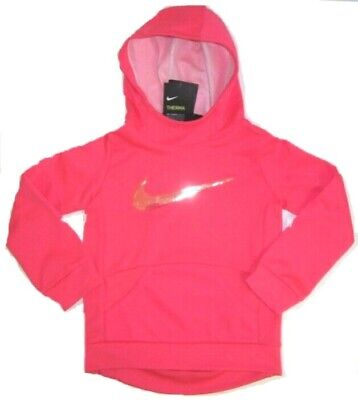 Nike Little Girls Dri-Fit Therma Hoodie  NWT  Racer Pink  Size 5  6 or  6X