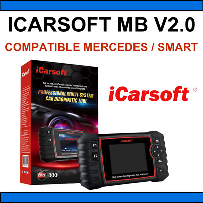 ✅ Koffer Diagnose Icarsoft MB V2.0 - Mercedes Smart - Multidiag Altar