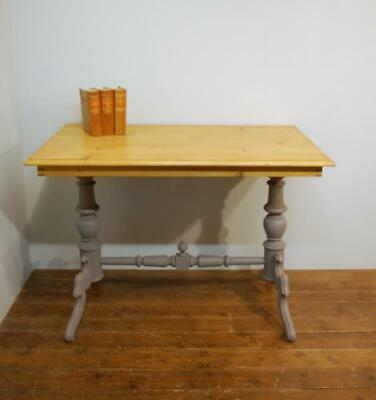 Antique Painted Pine Louis Philippe Console Table 1870 Side / Desk Table
