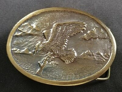 American Bald Eagle Vintage Belt Buckle James Lind 1973 Wyoming Studio Art Works