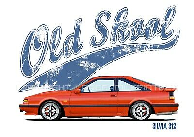 NISSAN SILVIA S12 t-shirt. OLD SKOOL. CLASSIC CAR. MODIFIED. RETRO. JDM.
