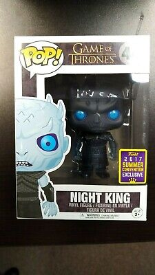 Funko Pop! SDCC 2017 Game of Thrones Translucent Night King #44! RARE, VAULTED!