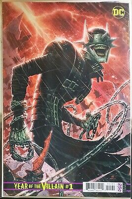 DCS YEAR OF THE VILLAIN #1 1:500 Cheung Batman Who Laughs Variant  Presale 5/1