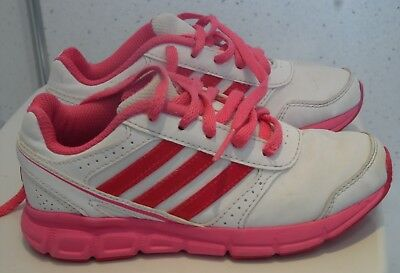 Young Girls Adidas Hyperfast Trainers Uk 11 Eu 29 White Junior Sneakers Shoes