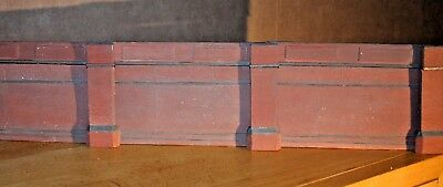 12 X Piece Detailed Model Railway Retaining Wall For HO / OO New Length 600mm