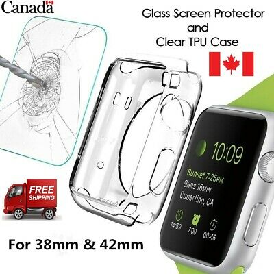 For i-Watch Series 2/3 TPU Bumper iWatch Screen Protector Case Cover 38/42MM CA