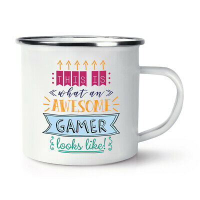 This Is What an Awesome Gamer Sieht aus wie Emaille Becher Tasse Lustige Beste