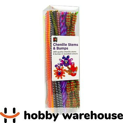 Chenille Stems (Pipe Cleaners) Standards and Bumps – 300x6mm 200 Pack