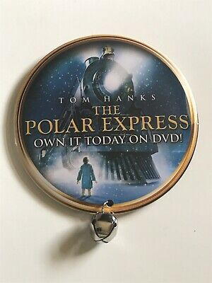 Polar Express Movie Promo Button/Pin With Sleigh Bell For DVD release.