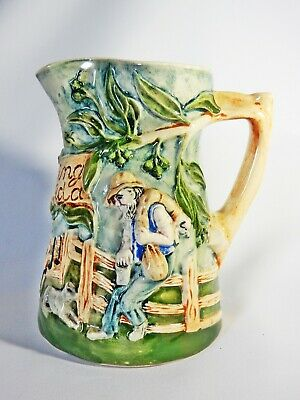 Antique Vintage 1950's Diana Pottery Australian Waltzing Matilda Musical Jug