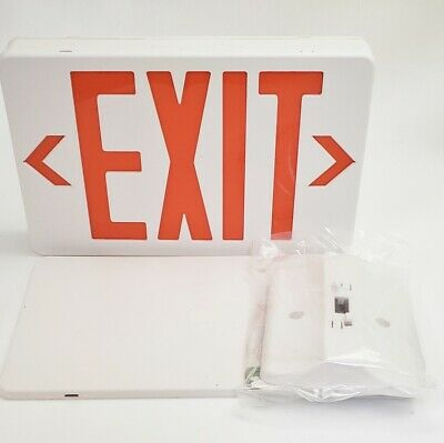 New Thomas & Betts QLXN500RN Red Lettering LED Self Powered Exit Sign