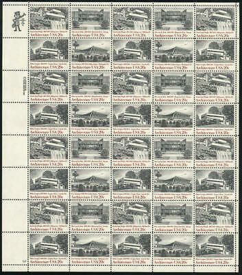 US #2019-2022 2019-22 2022a 20¢ American Architecture Sheet of 40 VF NH MNH