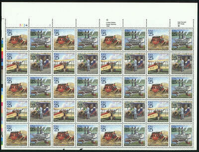 US #2434-2437 2434-7 2437a 25¢ Mail Delivery Sheet of 40 VF NH MNH