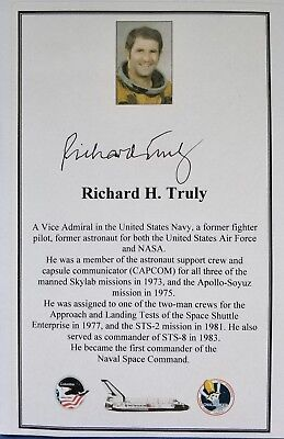 NASA Astronaut Richard Truly hand-signed bookplate Free P&P