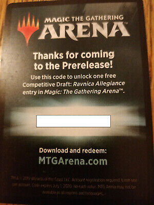 MTG Arena Competitive Draft Codes (RNA) email or physical token