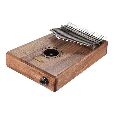 17-key Kalimba Thumb Piano Swartizia Spp Solid Wood w/Pickup Speaker I/F R4N8