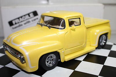 Danbury Mint 1:24 Scale 1956 FORD F-100 STREET MACHINE PICKUP (YELLOW)