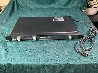 Crown D-75A amplifier model D75A from radio station
