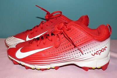 ebfc321caeb4 Nike Vapor Youth Fastflex BSBL Baseball Football Shoes Cleats Sz 8.5 Red/ White