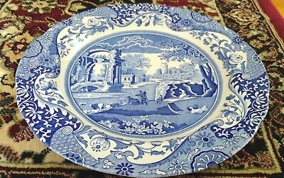 "1 x Vintage SPODE Italian Blue With Scenery 10.25"" Dinner Plate"