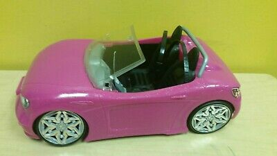 Barbie Car Convertible Pink Black Gray Glam Beach BDF38 Mattel 2013