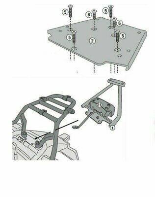 Givi SR9050 Royal Enfield 2018 Himalayan TOP BOX RACK rear carrier without plate