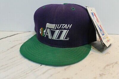 38c561e718e7b8 UTAH JAZZ NBA New Era 5950 Fitted Hat Black Green Purple Cap NWT 7 1 ...