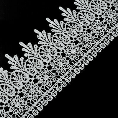 5 Yards Lace Trim Ribbon White Embroidered Edge DIY Sewing Craft Trimming Decor