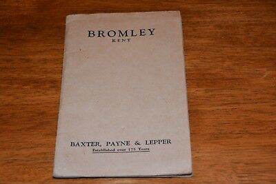 1950s  BROMLEY IN KENT  FOLDING MAP  REF L466