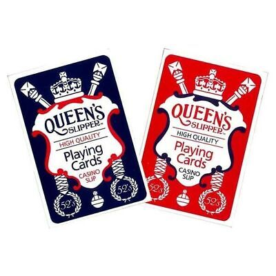 New Queen's Slipper Playing Cards Bridge Size Casino slip High Quality AU Made