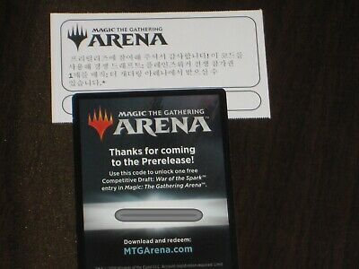 MTG ARENA War Of the Spark Draft code X 2 Email Code Only. Read description!!!