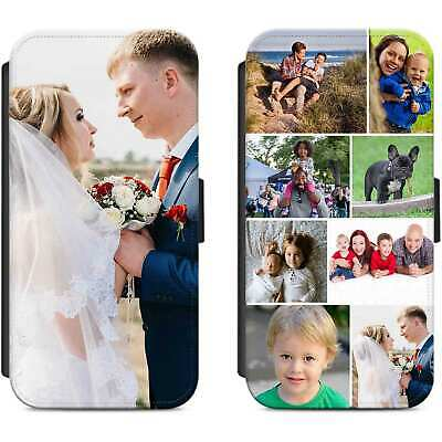 Personalised Photo Flip Case Wallet Phone Cover Picture Image For iPhone Samsung