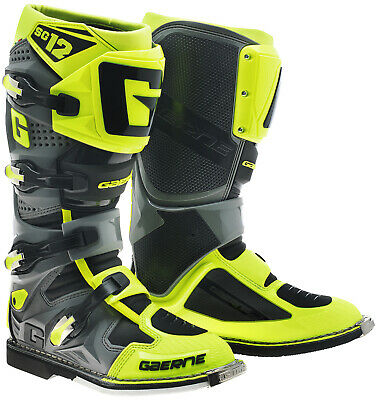 Gaerne Sg12 Mx Boots Neon Yellow, Motocross, Enduro, Trail & Off Road Boots
