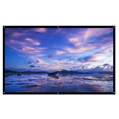 """120"""" Portable Foldable Projector Screen 1080P HD Home Wall 3D Movie Theater 16:9"""