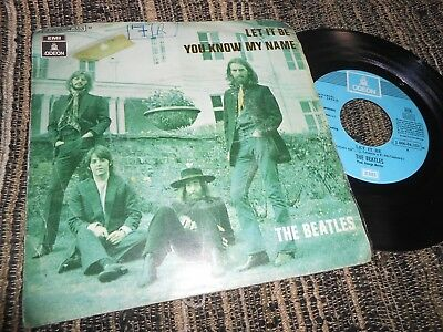 """THE BEATLES Let it be/You know my name 7"""" 1970 EMI Odeon  *SPAIN* *AZUL CLARO*"""