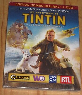 "New Film Blu-ray Disc + DVD ""TINTIN : Le Secret De La Licorne"" [NEUF SOUS CELLO]"