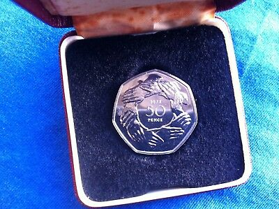 *RARE BREXIT CHOICE PROOF 1973 Ring of Hands EEC EU European Union GB 50p CASED*