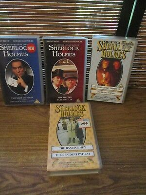 Sherlock Holmes VHS Video Tapes Set of Four Videos