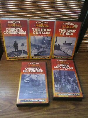 Century of Warfare VHS Video Tapes Set of Five Videos