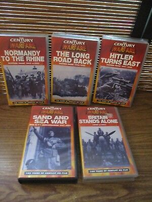 Century of Warfare VHS Video Tapes Set of Five Videos - Long Road Back, Britain
