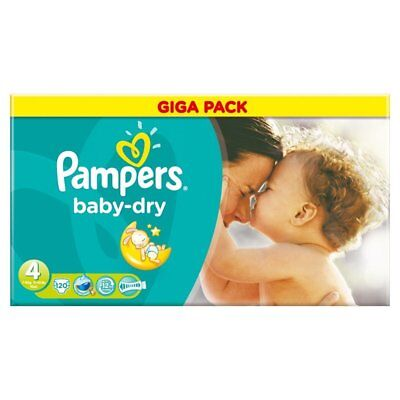 Pampers Couches Baby Dry Taille 4 Maxi Giga 9-14 kg - 120 couches