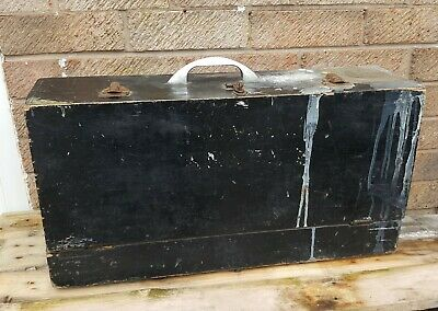 Vintage Wooden Carpenters Tool Box Collectable 1950s Apprentice Piece Upcycle