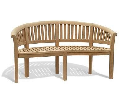 Wimbledon Premium Teak LUXURY BANANA BENCH -SALE- Jati, Quality & Value - 1.59m