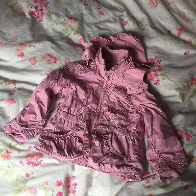 Girl's Pink Next Spring / Summer Coat Jacket Anorak 4-5 Years Hood & Pockets!