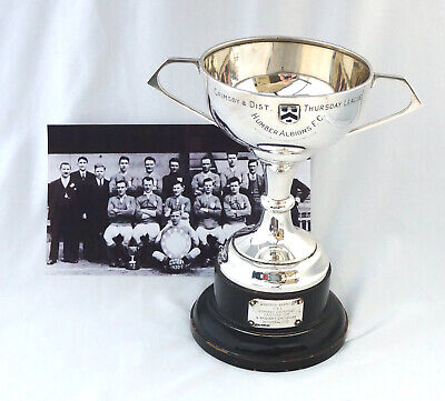 Sterling Silver Football League & Cup Trophy. Humber Albion FC Grimsby 1930 - 31